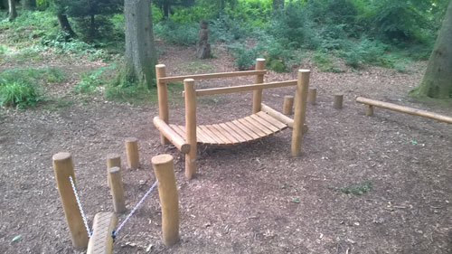 National Resources Wales Robinia Timber Adventure Trail Hardwood Playground Equipment Manufacturer Safety Surfacing Specialist Sussex Hampshire London
