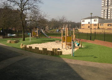 Artificial Grass Safety Surfacing - Independent Playground Manufacturer Robinia Timber Equipment Manufacturer Installation West Sussex Hampshire Kent London