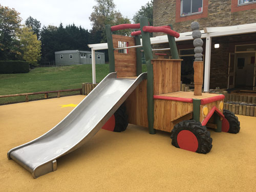 Hardwood Robinia Bishop Challoner School - Play Equipment Robinia Playground Equipment Manufacturer Surfacing Specialist West Sussex Surrey Hampshire London