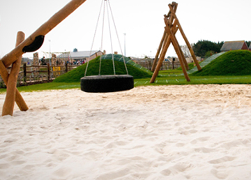 Loose Fill Safety Surfacing Sand Bark Hardwood Chip Playground Installation - Safety Surfacing Installer West Sussex East Sussex Hampshire Devon Kent London