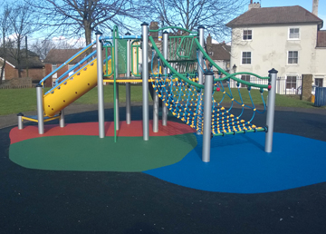 Wet Pour Graphics Rubber Safety Surfacing - Independent Playground Installation - Safety Surfacing Installer West Sussex Surrey Hampshire