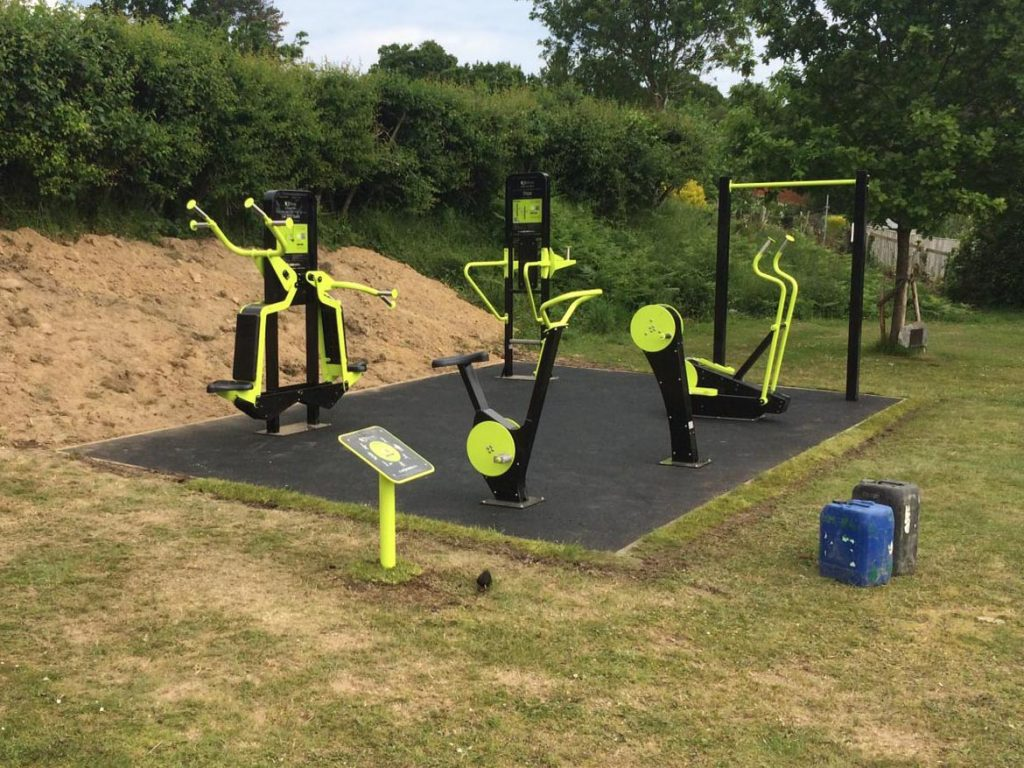 Exercise Equipment Lodsworth Wet Pour Rubber Safety Surfacing Independent Playground Installation - Safety Surfacing Installer West Sussex Surrey Hampshire