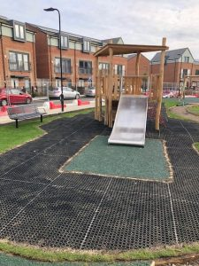 Playsafe Playgrounds - Independent Playground Installation Grass Mat & SafaMulch Safety Surfacing Installer West Sussex Surrey Hampshire
