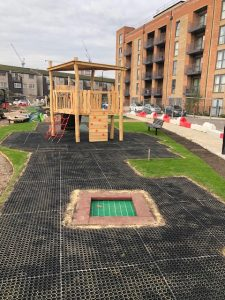 Hevelock Southall Project - Playsafe Playgrounds - Independent Playground Installation SafaMulch Safety Surfacing Installer West Sussex Surrey Hampshire
