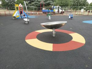 LB Redbridge Loxwood Park Wet Pour Rubber Safety Surfacing Independent Playground Installation - Safety Surfacing Installer West Sussex Surrey Hampshire