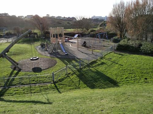East Brighton Park Robinia Play Equipment Installation - SafaMulch - Independent Playground Safety Surfacing Installer West Sussex Surrey Hampshire