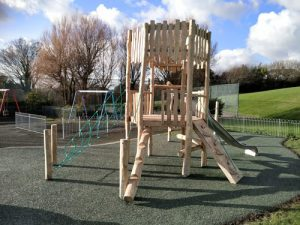 East Brighton Park Robinia Play Equipment Installation - SafaMulch - Independent Playground Safety Surfacing Installer West Sussex Surrey Hampshire