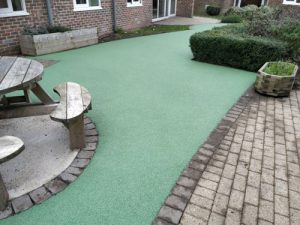 Rowan Ward Meadowfield Hospital Worthing - Wet Pour - Independent Playground Safety Surfacing Installer West Sussex Surrey Hampshire