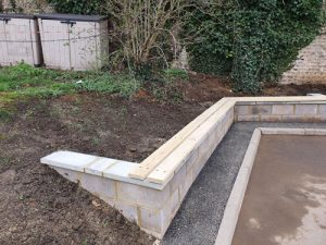 Bilingual Primary School Retaining Wall Brighton & Hove - Playground Equipment & Safety Surfacing Specialist West Sussex Surrey Hampshire London