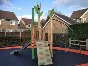 Play Area Horsham District Council Park Play Equipment - Wet Pour - Independent Playground Safety Surfacing Installer West Sussex Surrey Hampshire