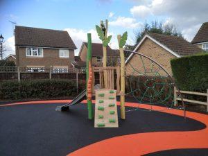 Wren Close Horsham District Council Park Play Equipment - Wet Pour - Independent Playground Safety Surfacing Installer West Sussex Surrey Hampshire