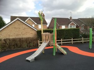 Wren Close Horsham District Council Park Play Equipment - Wet Pour - Independent Playground Safety Surfacing Installer West Sussex Surrey Hampshire
