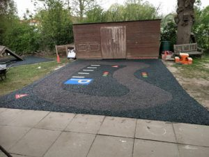 Safamulch Dauxwood Pre-School - SafaMulch Rubber Surfacing - Independent Playground Safety Surfacing Installer West Sussex Surrey Hampshire