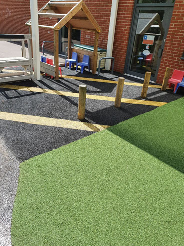 Bilingual Primary School Refurbishment - Wet Pour - Safety Surfacing - Independent Playground Safety Surfacing Installer West Sussex Surrey Hampshire