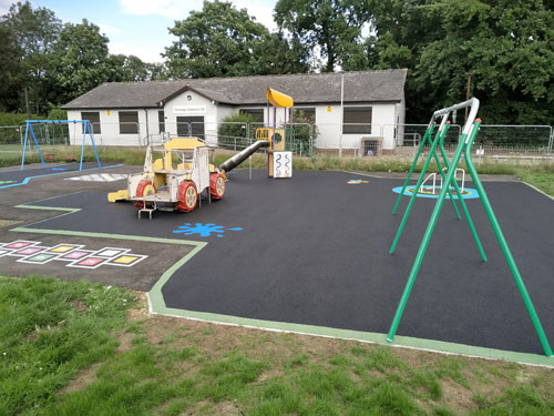 Parsonage Lane Bishops Stortford - Wet Pour - Independent Playground Safety Surfacing Installer West Sussex Surrey Hampshire