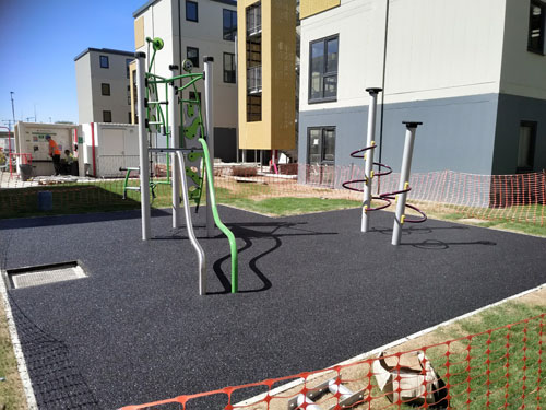 Weighbridge Dagenham Project - Installation - Wet Pour - Safety Surfacing - Independent Playground Safety Surfacing Installer West Sussex Surrey Hampshire