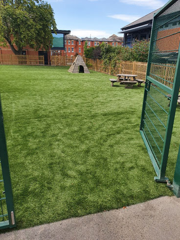 Dulwich Prep School - Artificial Grass London Surrey Sussex Hardwood Play Equipment, Play Equipment Manufacturer, Play Area Specialist, Safety Surfacing