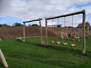 Banky Fields East Sussex - Thakeham Homes Robinia Play Equipment - Grass Matt Surfacing - Independent Playground Safety Surfacing Installer Surrey Hampshire