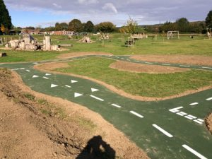 Scooter Track Easebourne PC - Bicycle Track & Playground Installers - Independent Playground Safety Surfacing Installer West Sussex Surrey Hampshire