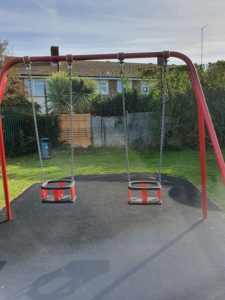 Swing Seat Replacement Rustington Play Area - Parkmarks Southern - Independent Playground Safety Surfacing Installer West Sussex Surrey Hampshire