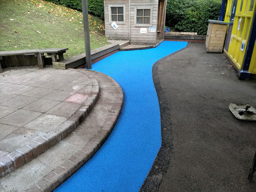 St Michaels School Wet Pour - Wet Pour Rubber Surfacing - Independent Playground Safety Surfacing Installer West Sussex Surrey Hampshire
