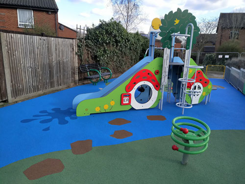 Wet Pour Heacham Avenue Uxbridge - Play Area - Wet Pour - Independent Playground Safety Surfacing Installer West Sussex Surrey Hampshire